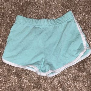 Turquoise and White Soffee Shorts